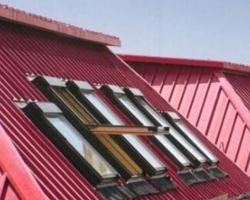 斜屋顶天窗效果图