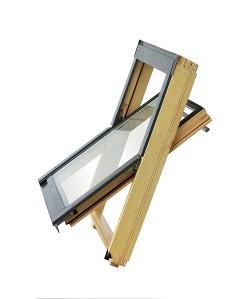 铝木中悬天窗